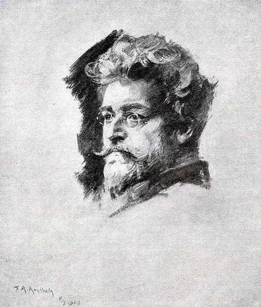 Portrait von Ludwig Ganghofer